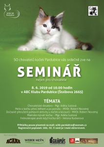 První seminář pro kočičí milovníky 8. června  v Pardubicích !!!!